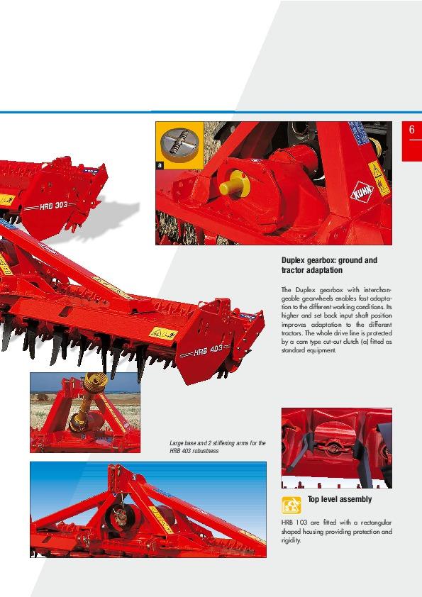 kuhn hrb power harrows hrb 102 d hrb 103 agricultural machinery catalog rh needmanual com