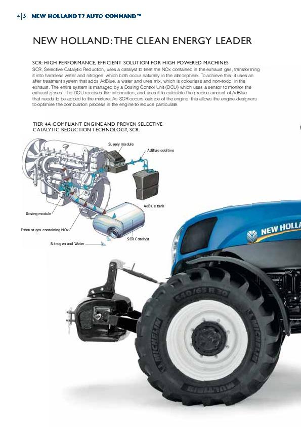 New Holland T7 170 T7 185 T7 200 T7 210 Auto Command Tractors Catalog