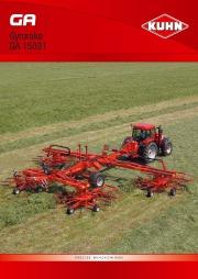 Kuhn GA Gyrorake GA 15031 PRECISE WINDROWING GA GYRORAKE Agricultural Catalog page 1